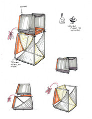 Concept Development - 3D file, Pen and Marker