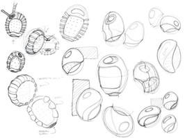 Form Exploration Sketches - Pen