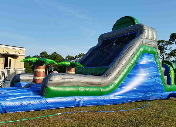 18 Ft Dual Lane Blue Crush Obstacle Slide