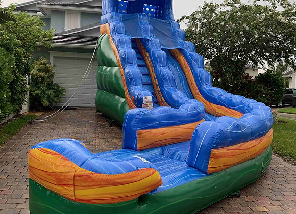 19 FT Storm Surge Slide (w/ curve and small pool)