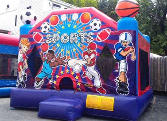 2 in 1 Sports Bounce (With Hoop)