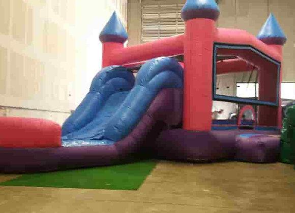 Pink/Purple Bounce n Slide (Wet or Dry w/hoop)