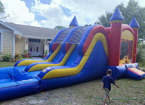Double Slide XL Combo (Wet or Dry w/ Pool)