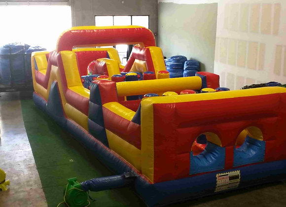 35 Ft Dual Lane Zip It (Obstacles, Tunnels, Slide)