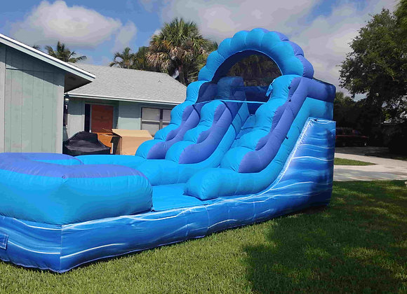 13 Ft Blue Slide (with small pool)