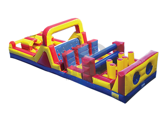 40 FT Dual Lane Obstacle Course (with slide)