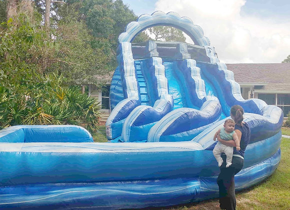 20 Ft Double Dip Blue Monster Slide