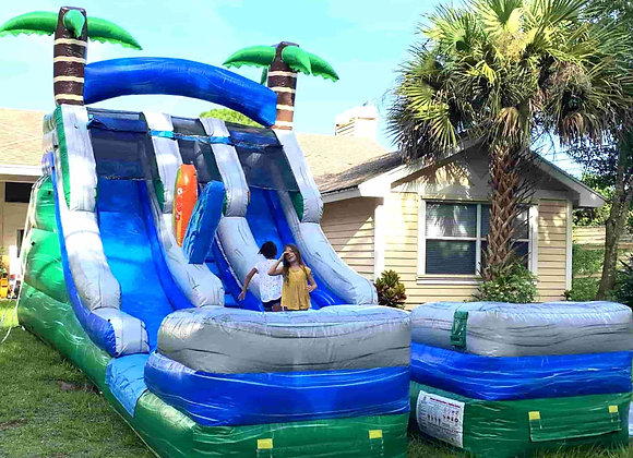 18Ft Double Surf Slide (2 small pools)