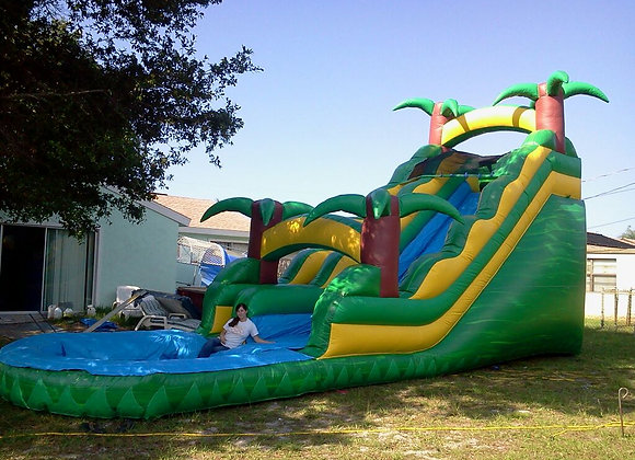 24 Ft Tropical Paradise Slide n Splash