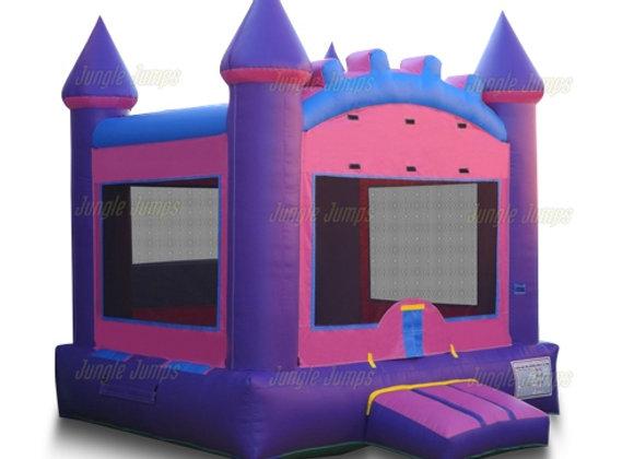 2 in 1 Pink Castle Bounce    (BBall hoop inside)