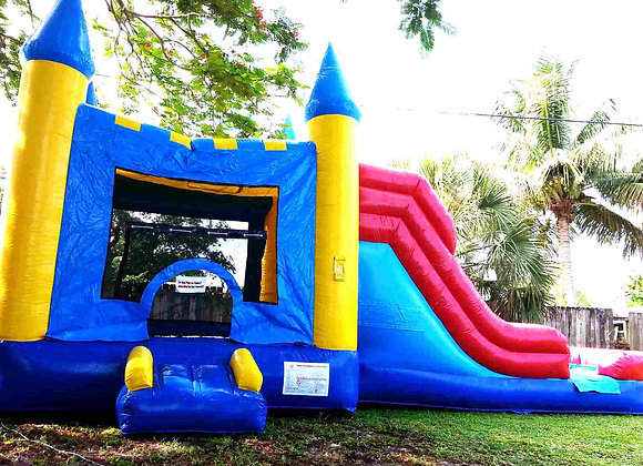 4 in 1 Castle Jump n slide (Wet/Dry w/ Pool)