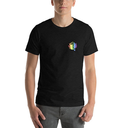 Done Waiting Rainbow Rose Logo Shirt