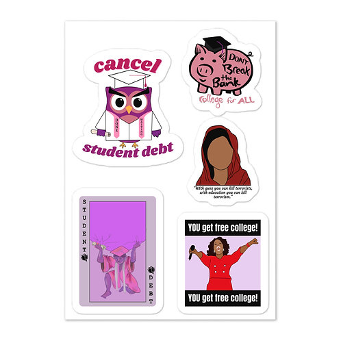 College For All Sticker Sheet