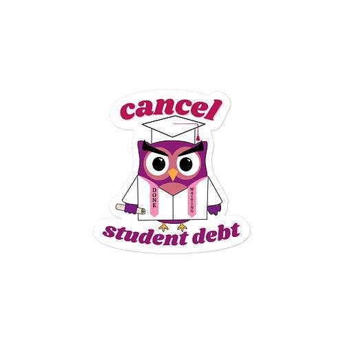Cancel Student Debt Owl Sticker