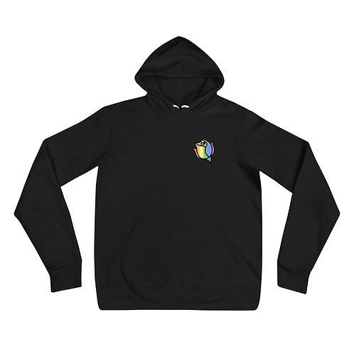 Done Waiting Rainbow Rose Logo Hoodie