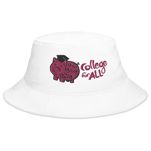 Piggy Bank College For All Bucket Hat