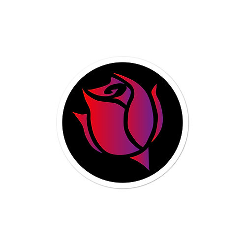 Circular Rose Logo Sticker