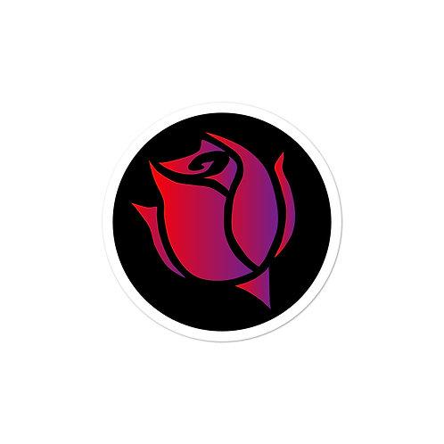 Circular Rose Logo Sticker