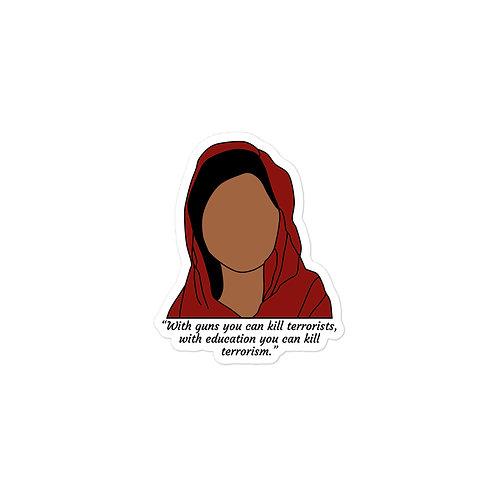 Malala Quote Sticker