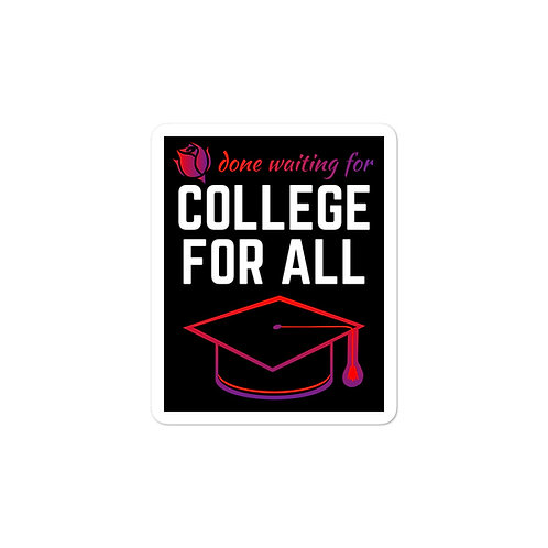 College For All Sticker