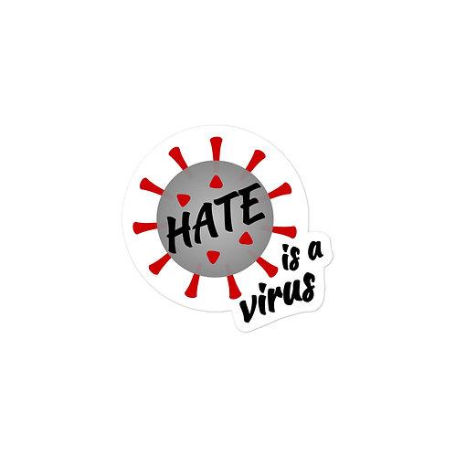 Hate Is A Virus Sticker