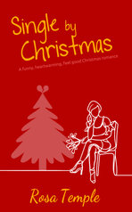 Book cover illustration of woman at Christmas