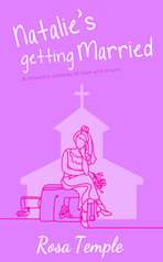 Book cover illustration of woman lineart church