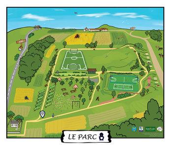 Park map illustration