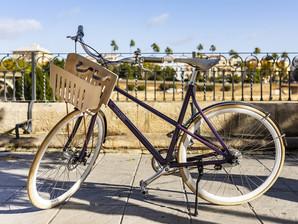 Uma bike feita de cápsulas de café