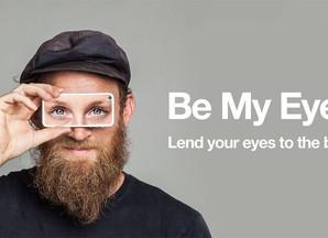 """Aplicativo de celular permite que pessoas possam """"emprestar"""" sua visão para deficientes visuais"""
