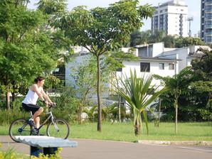 Acesso principal do Parque das Bicicletas reabre nos fins de semana