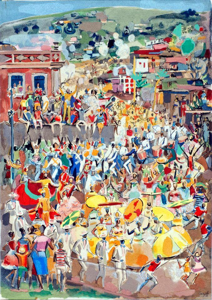 Carnaval, de Carybé (1962) - [Acervo Pinacoteca Carybé]