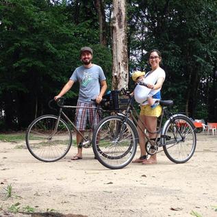 Uma família que pedala unida