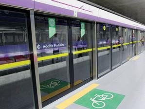 Nesta terça, dia 2, começam a funcionar bicicletários na Linha 5-Lilás
