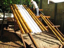 Montagem das telhas