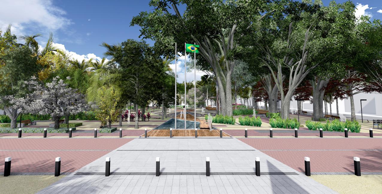 Vista a partir da Praça São Pedro
