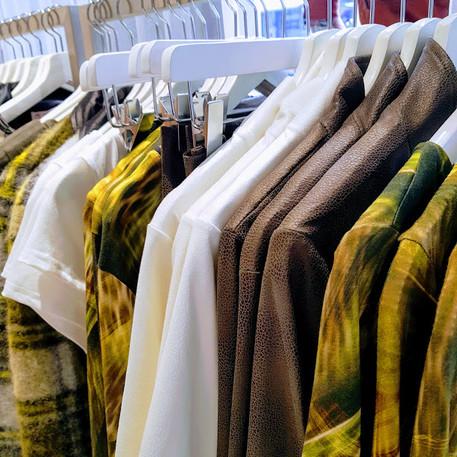 collectie, groen printen ecru mooie stof