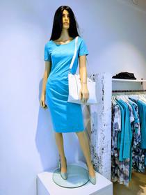 Maxine jurk isuede cyaan lichtblauw blau