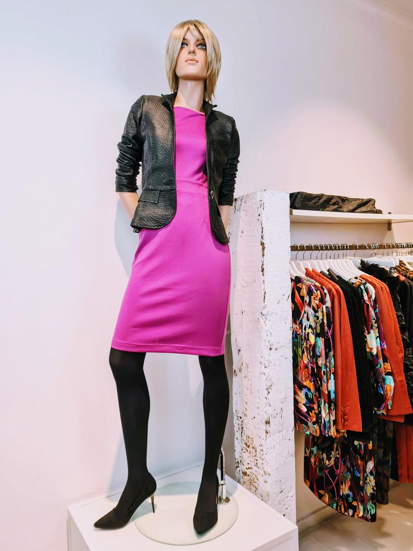 Helga jurkje roze fuchsia esther blazer