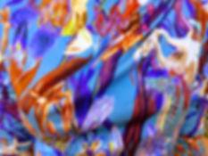 Print blauw iris bijzondere kleurrijke k