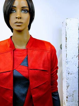 Lincey jurk metallic rood utrecht2.jpg