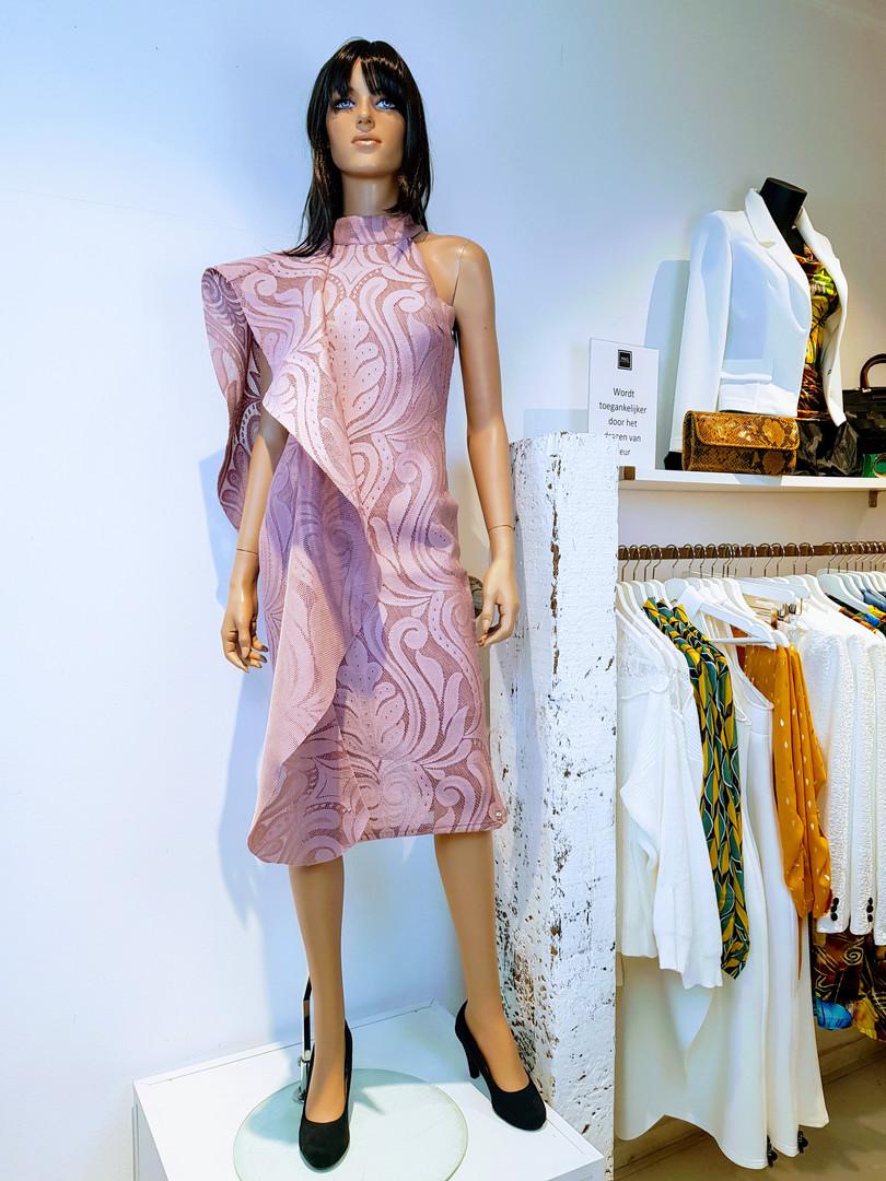 mooie speciale jurk roze utrecht wgdesig