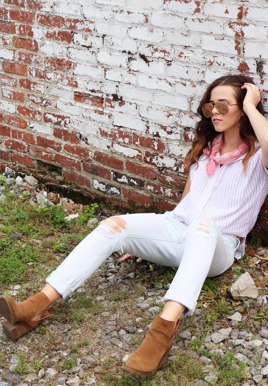 Tie-up Collar Shirt + Dakota Bandana
