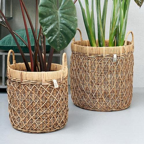 Diamond Weave Basket L