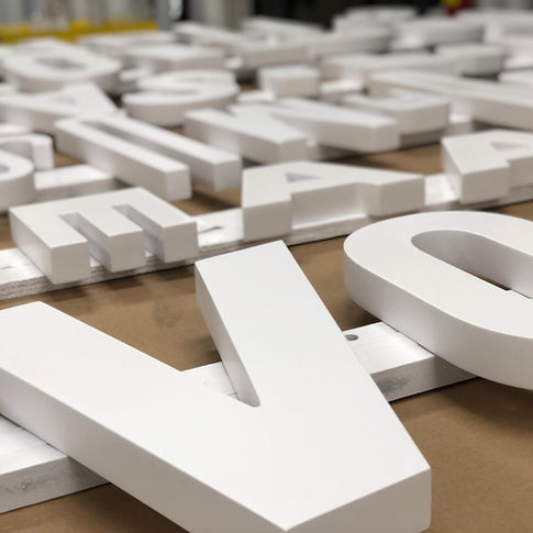 Dimensional Lettering by Vista Visual Group