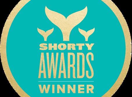 The Aha! Series Won a Shorty Award!