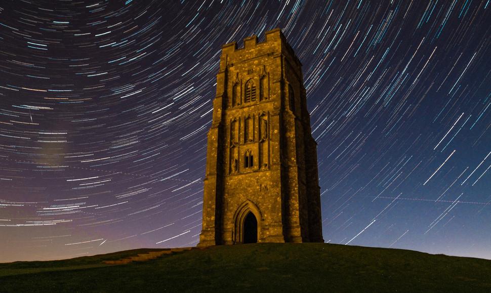 Glastonbury Tor Star Trail