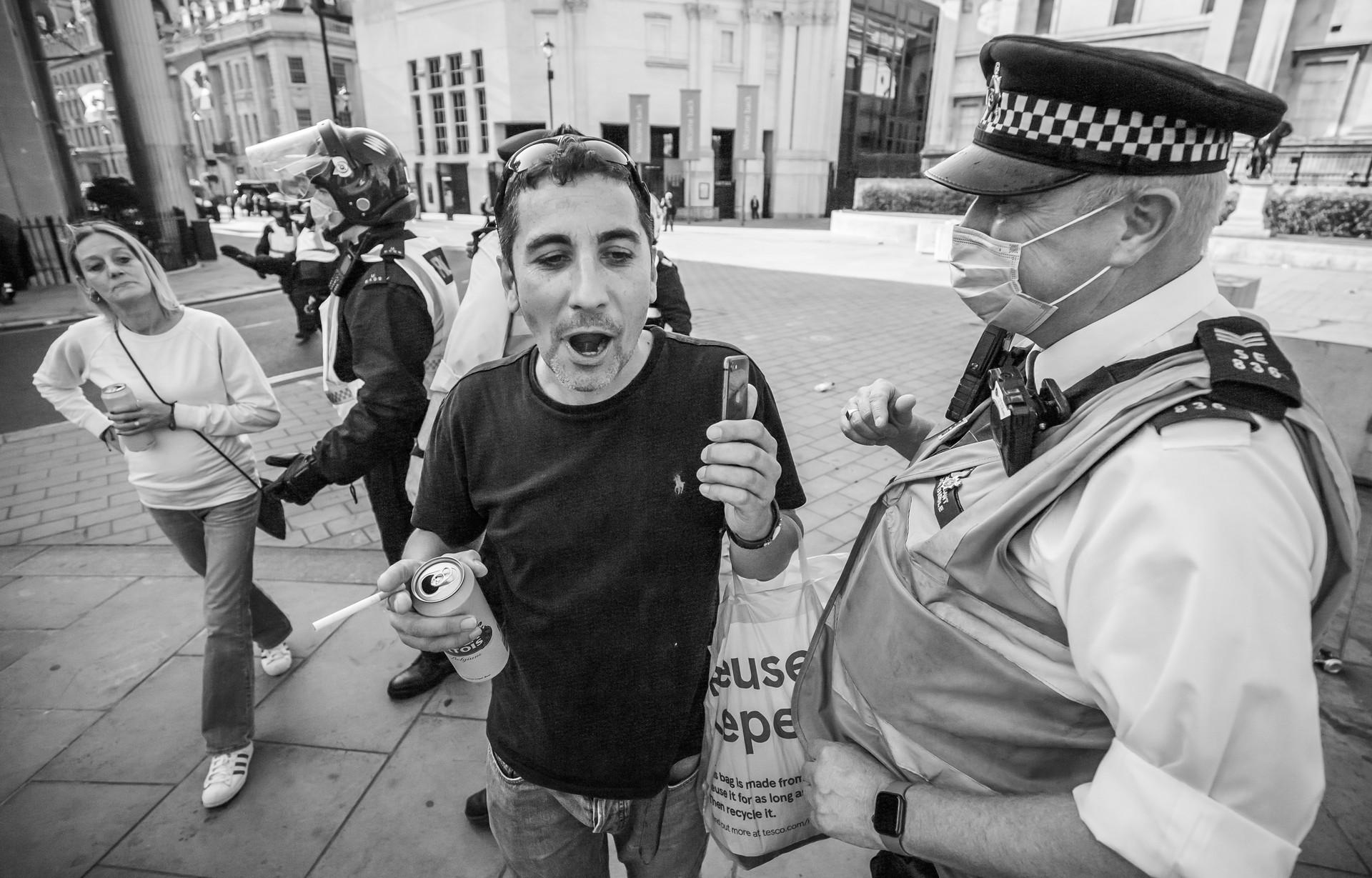 No i'm not drinking in public officer