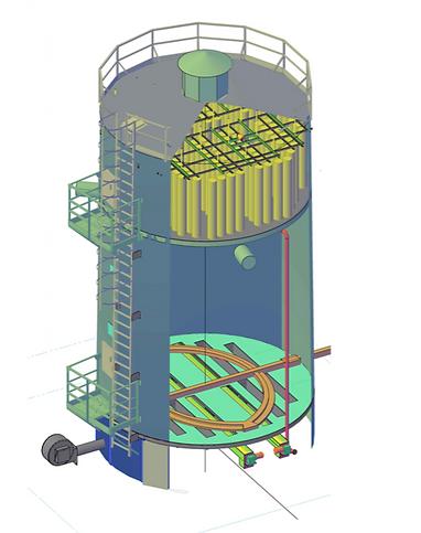 spiral silo wood chips storage