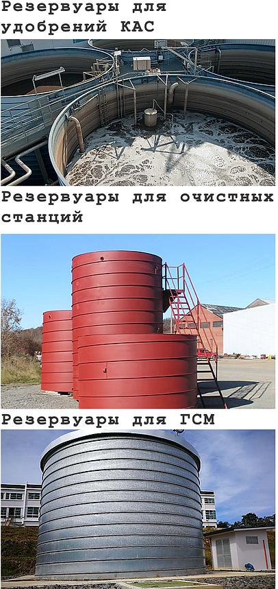 Резервуары для химических продуктов